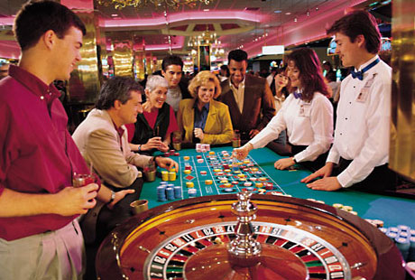 Live casino roulette table action